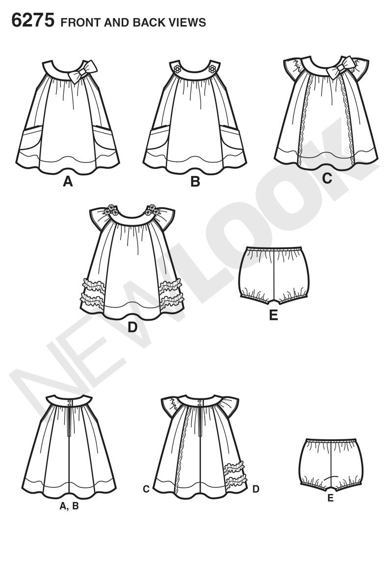 New Look Sewing Pattern 6275 |  Babies' Dress & Panties