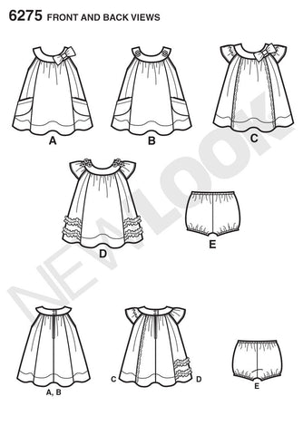 NL6275 Babies' Dress & Panties