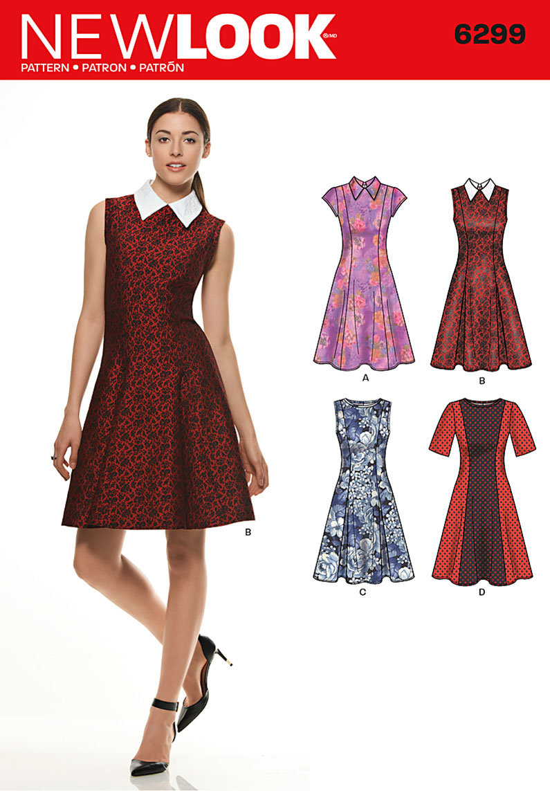 New Look 6299 Multi size sewing pattern