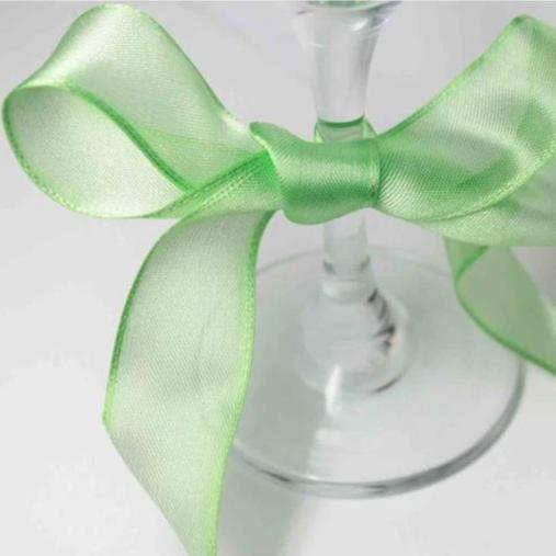 Wired Edge Organza Ribbon | Bright Green