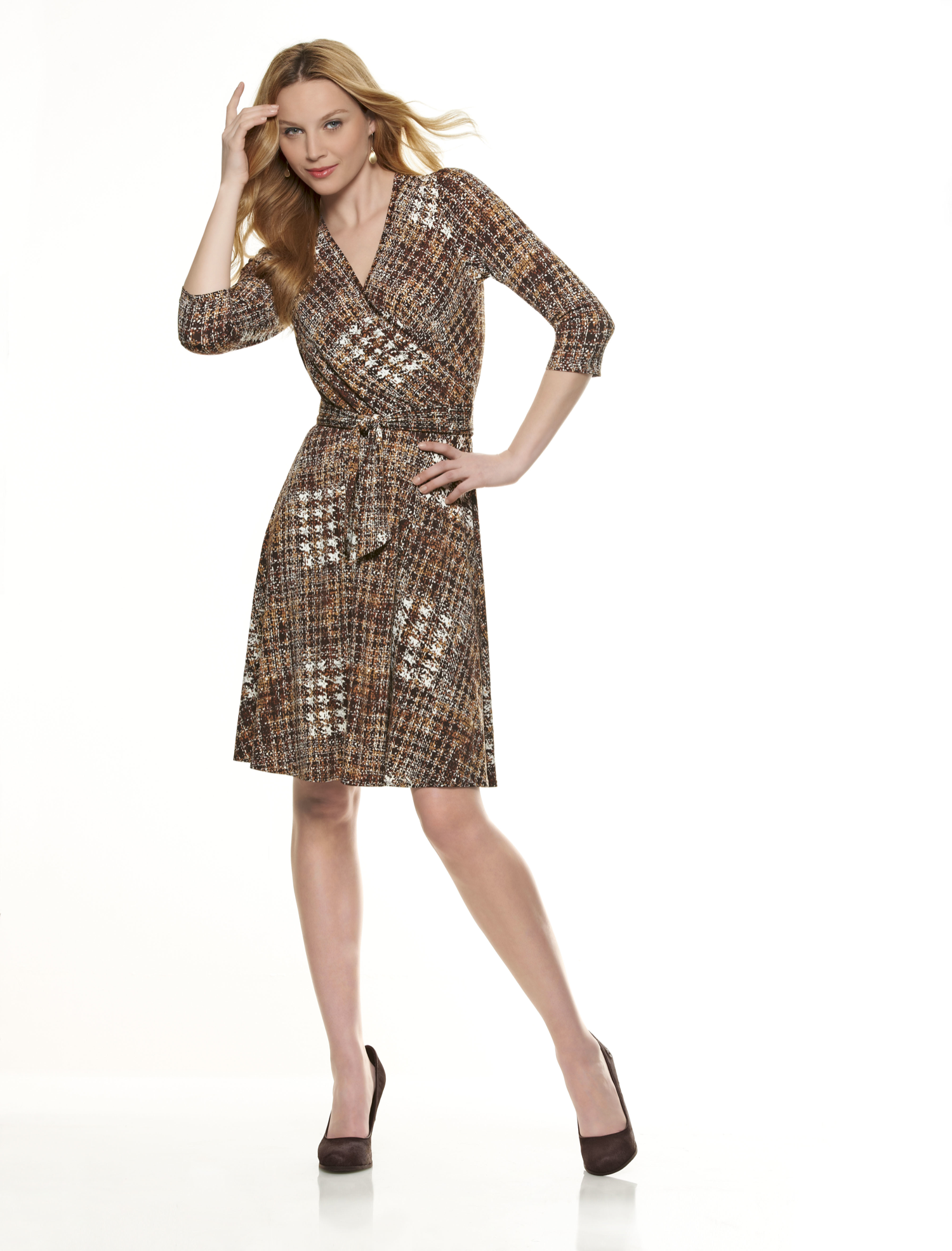 NL6301 Misses' Mock Wrap Knit Dress