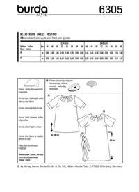 BD6305 Women's top and dress sewing pattern