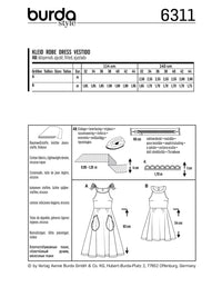 BD6311 Bare shoulder dress sewing pattern from Jaycotts Sewing Supplies