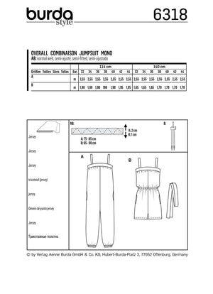 BD6318 Misses' jumpsuit sewing pattern