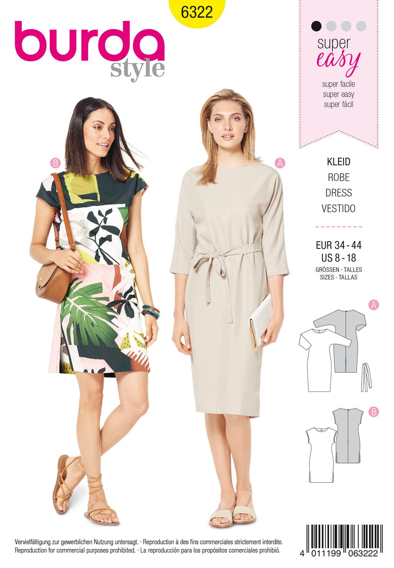 BD6322 Easy Sew Dress sewing pattern