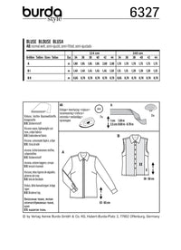 BD6327 Misses' shirt sewing pattern from Jaycotts Sewing Supplies