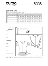 BD6330 Misses' top sewing pattern