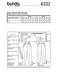 BD6332 Highwaisted pants sewing pattern