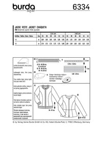 BD6334 Peplum jacket sewing pattern