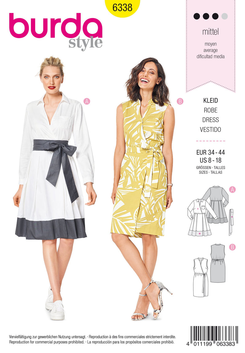 BD6338 Wrap dress sewing pattern