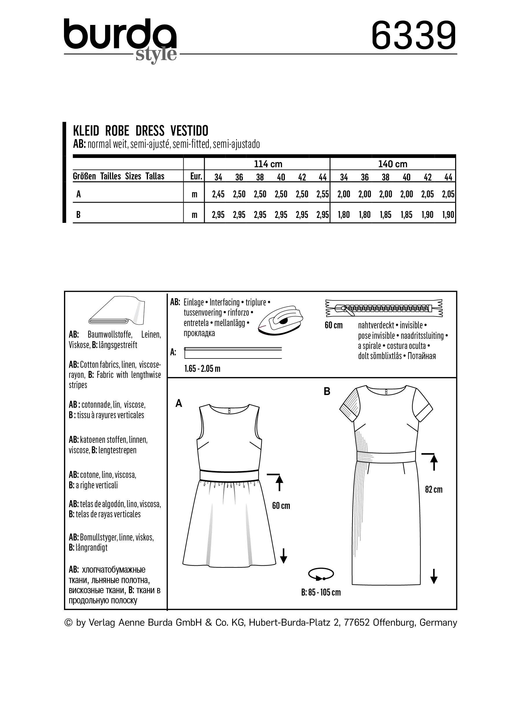 BD6339 Dresses with waistband sewing pattern
