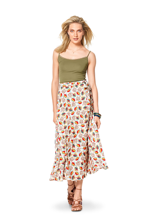 BD6340 Misses' wrap skirt sewing pattern