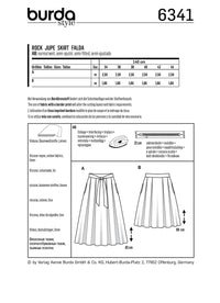 BD6341 Inverted pleat skirt sewing pattern