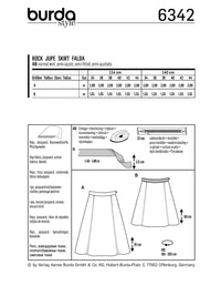 BD6342 Side pleat skirt sewing pattern from Jaycotts Sewing Supplies