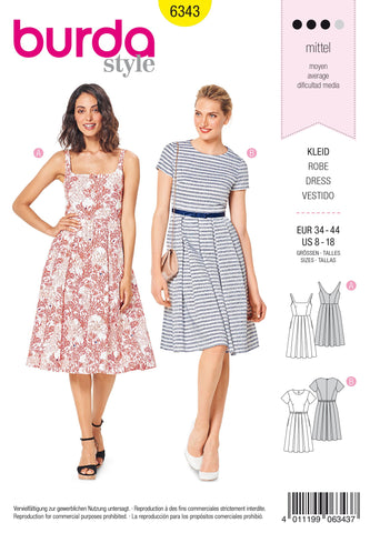 BD6343 Misses' pinafore dress sewing pattern