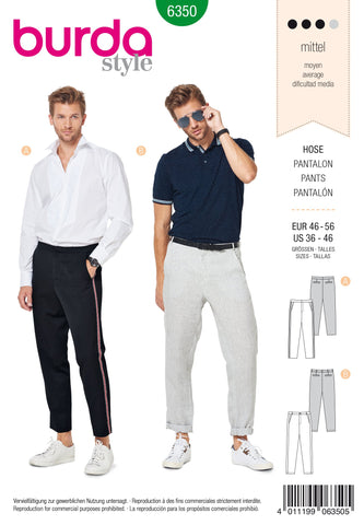 BD6350 Men's Trousers sewing pattern