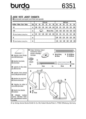 BD6351 Men's jacket sewing pattern from Jaycotts Sewing Supplies