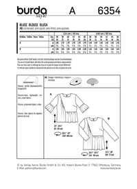 BD6354 Women's Blouse pattern