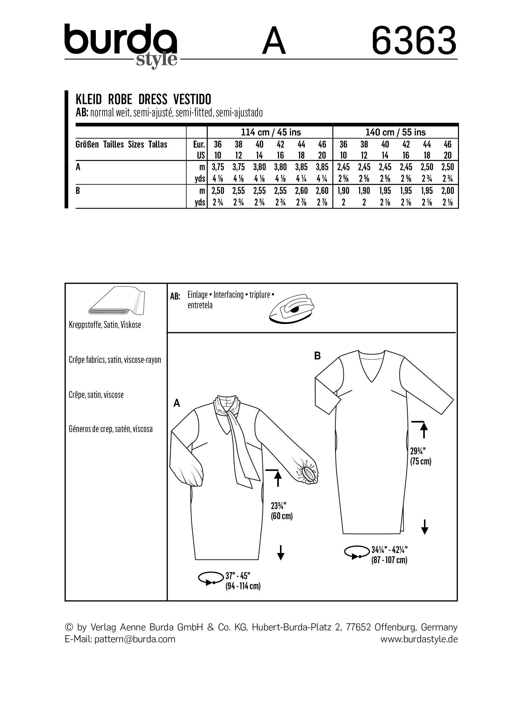 BD6363 Women's Dress pattern