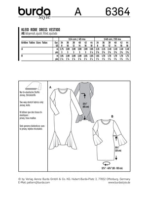 BD6364 Siren Dresses pattern from Jaycotts Sewing Supplies