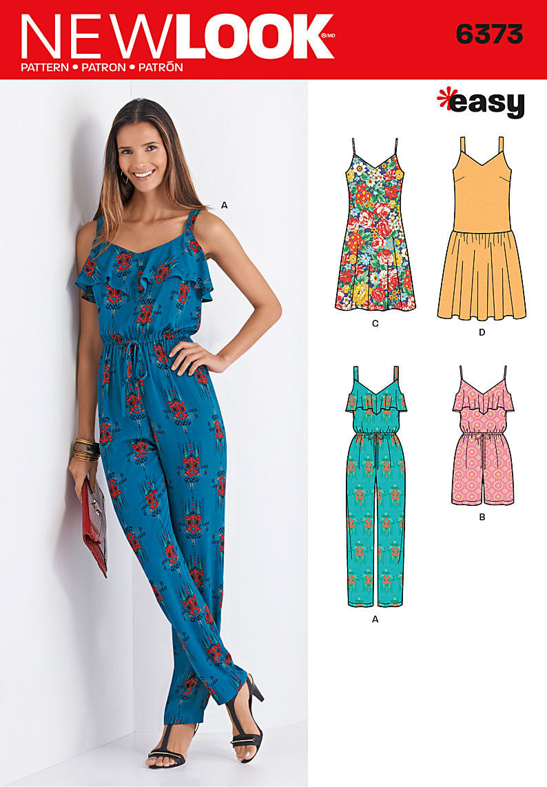 NL6373 Misses' Jumpsuit or Romper and Dresses from Jaycotts Sewing Supplies