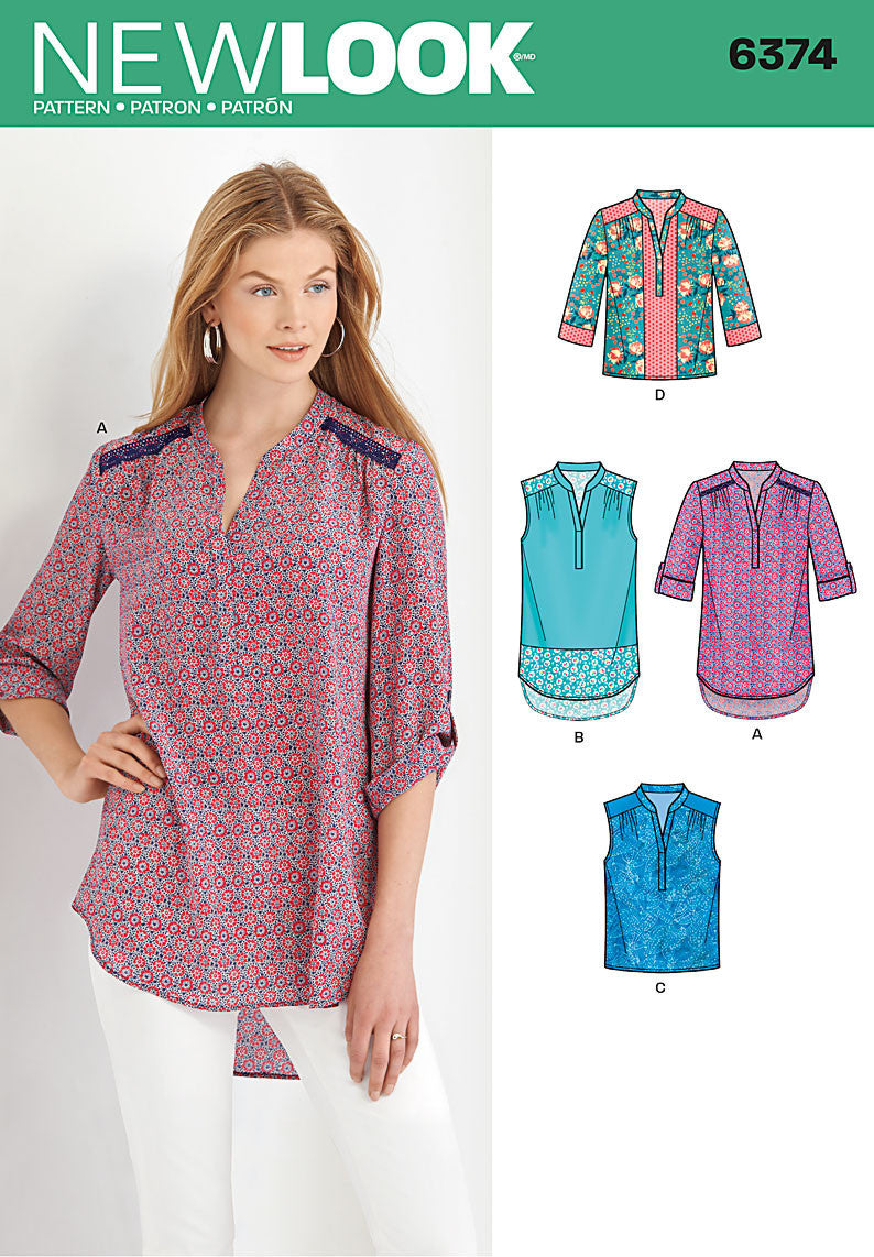 New Look 6374 Multi size sewing pattern