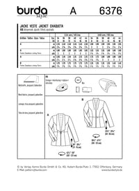 BD6376 Women's Blazers Pattern from Jaycotts Sewing Supplies