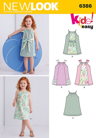 NL6386 Toddlers' Easy Pillowcase Dresses