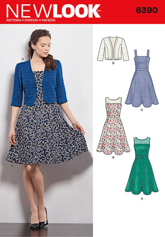 New Look 6390 Multi size sewing pattern