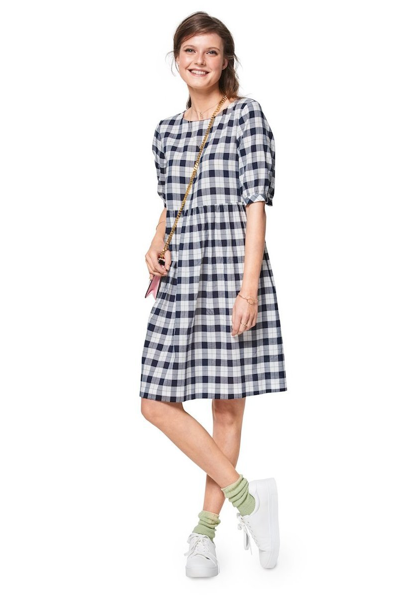 BD6401 Women's Swing Dress with Sleeve Variations