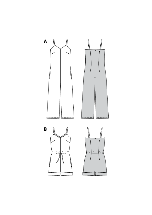 BD6408 Misses Jumpsuit Pattern | Various Lengths
