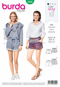 BD6409 Misses Shorts Pattern | with Pockets