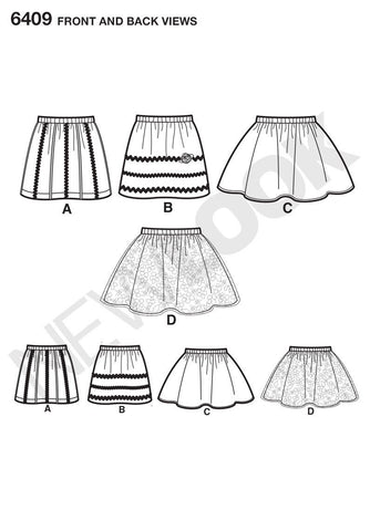 NL6409 Child's Pull-On Skirts