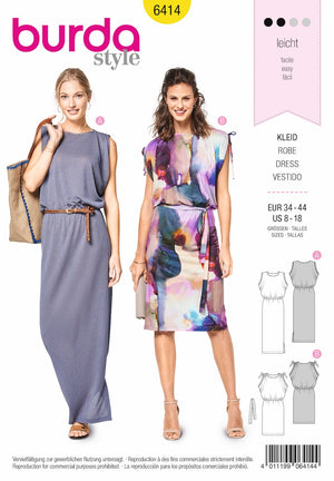 BD6414 Dress Pattern | Sleeveless Dresses