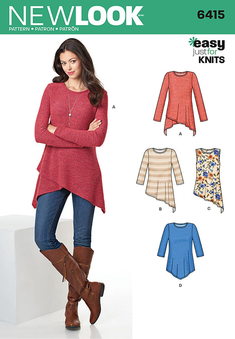 NL6415 Misses' Knit Tunics
