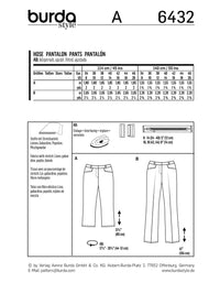BD6432 Women's Dress Trousers Pattern
