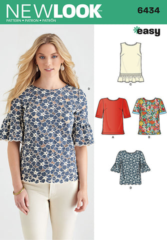 New Look 6434 Multi size sewing pattern