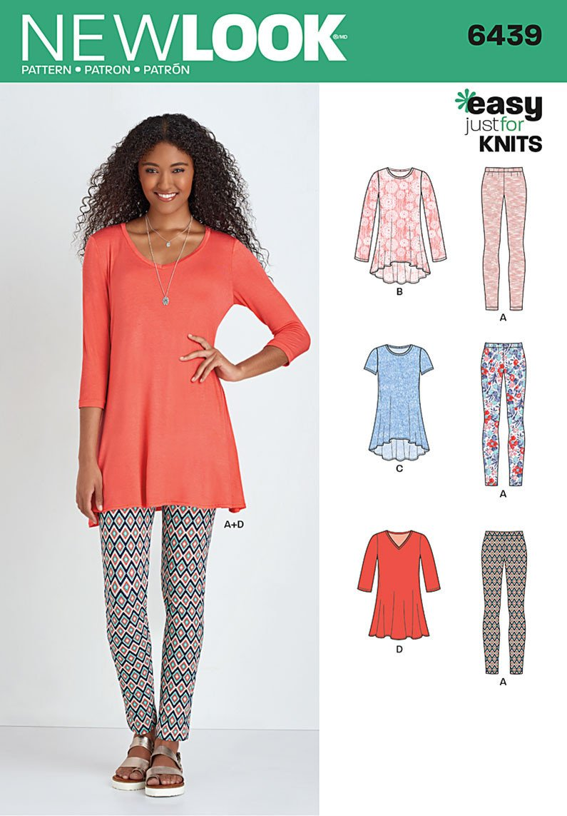 NL6439 Misses' Knit Tunics with Leggings