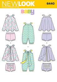 8f0c7d42987 NL6440 Babies Romper and Sundress with Panties