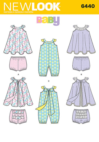 NL6440 Babies Romper and Sundress with Panties