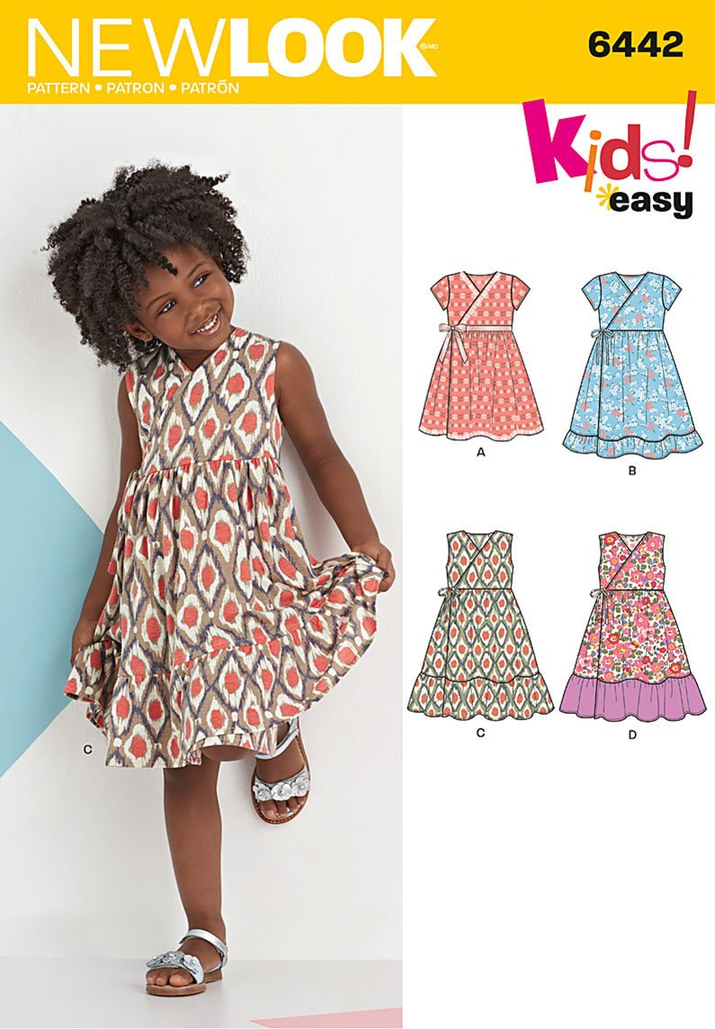 NL6442 Child's Easy Wrap Dresses from Jaycotts Sewing Supplies