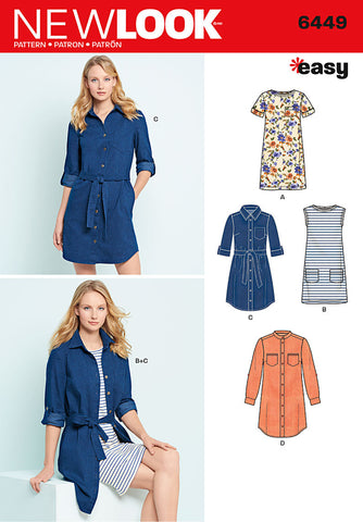 New Look 6449 Multi size sewing pattern