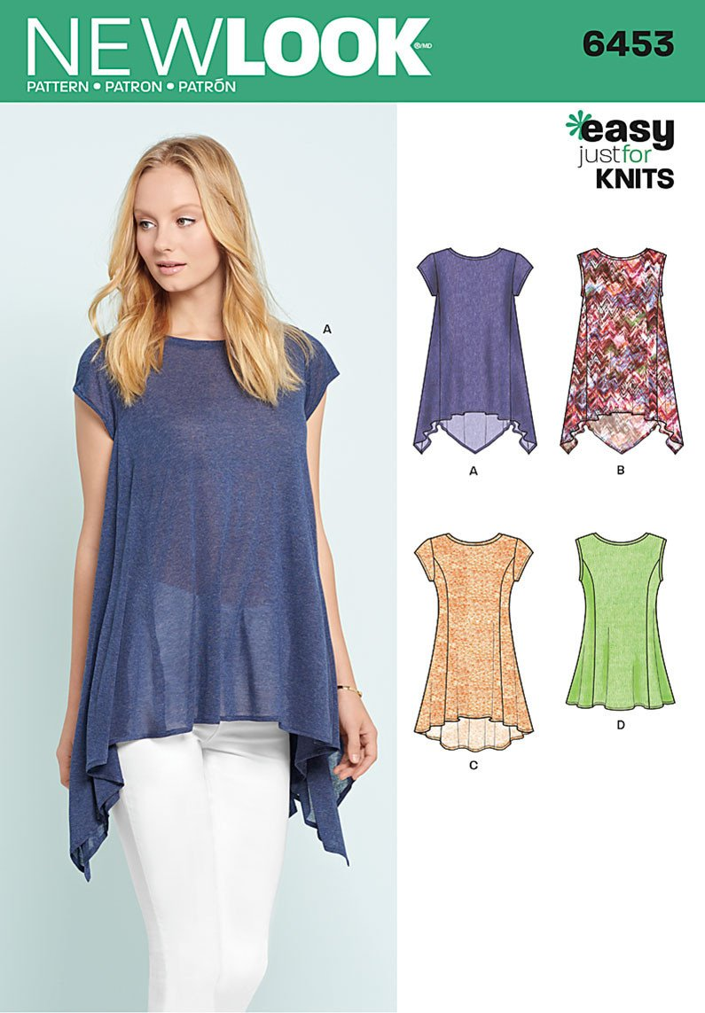 NL6453 Misses' Easy Knit Tops