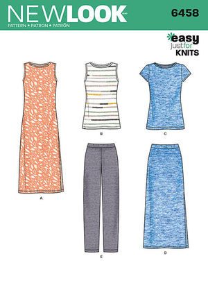 New Look 6458 Multi size sewing pattern