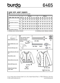 BD6465 Women's Collarless Jacket | Burda Style Pattern