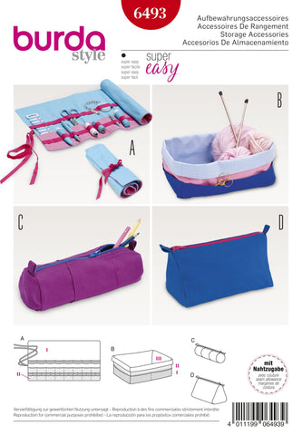 BD6493 Storage Accessories | Burda Style Pattern
