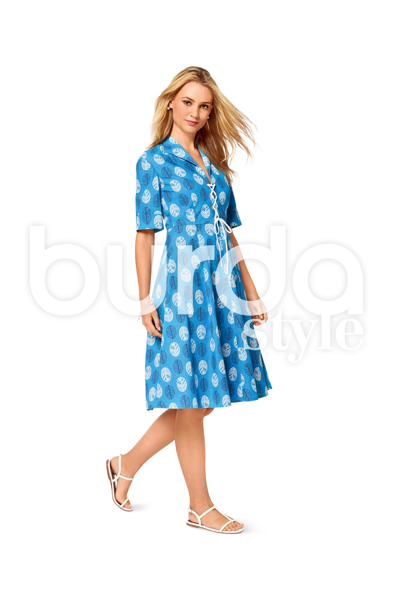 Burda Style Pattern BD6497 Misses' V-Neck Dress