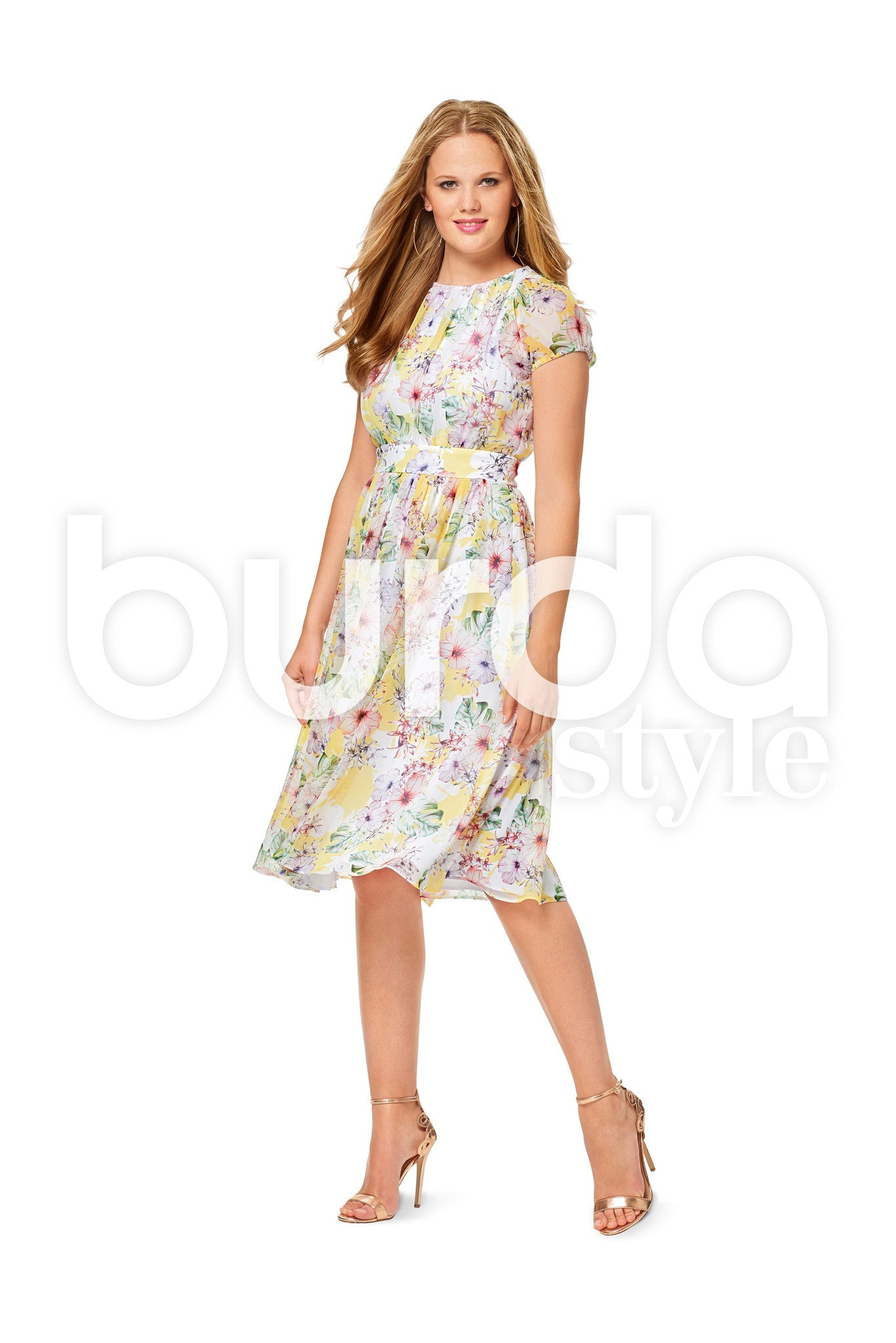 Burda Style Pattern BD6518 Misses' Two Layered Dress
