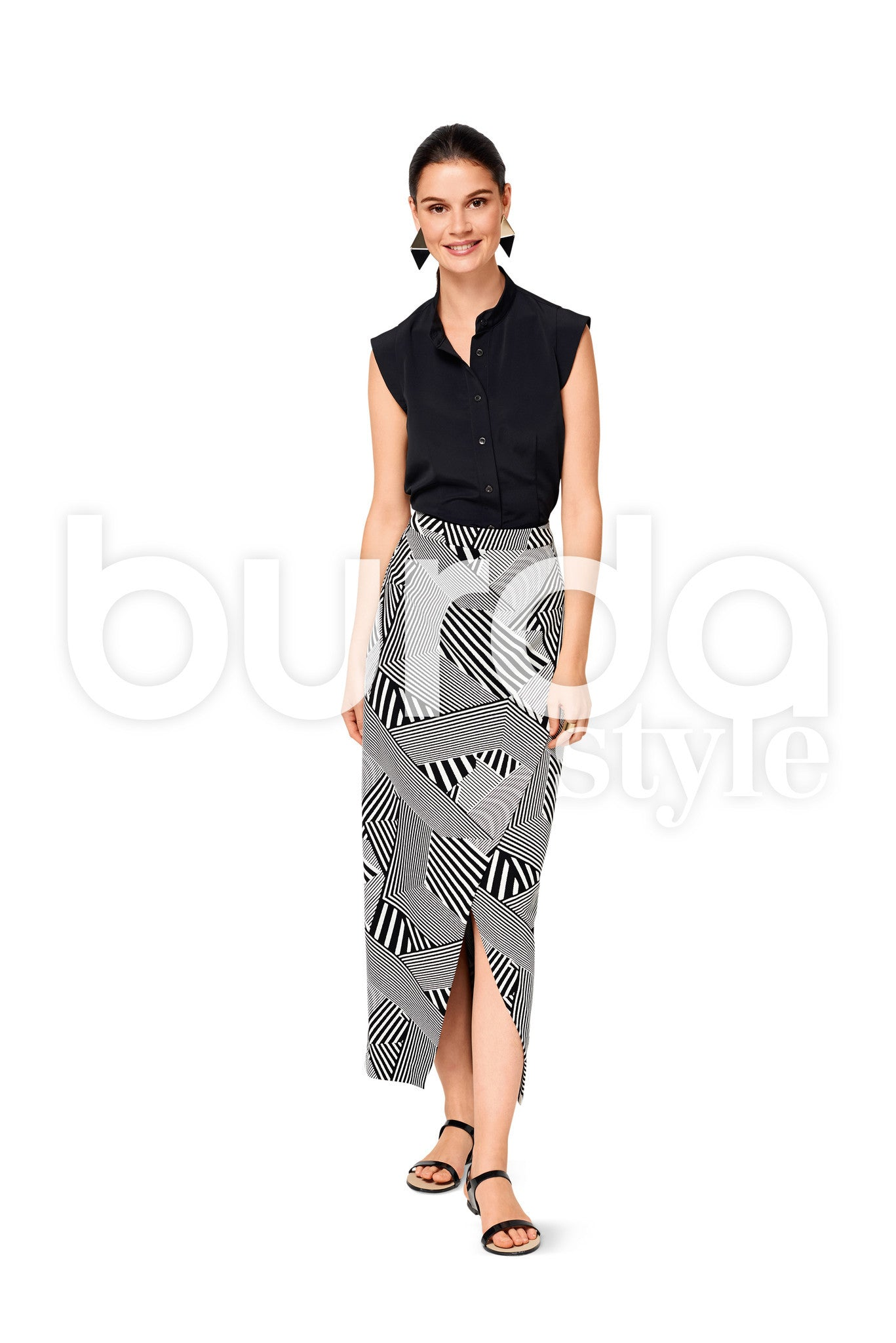 Burda Style Pattern BD6527 Misses' Stand Collar Blouse