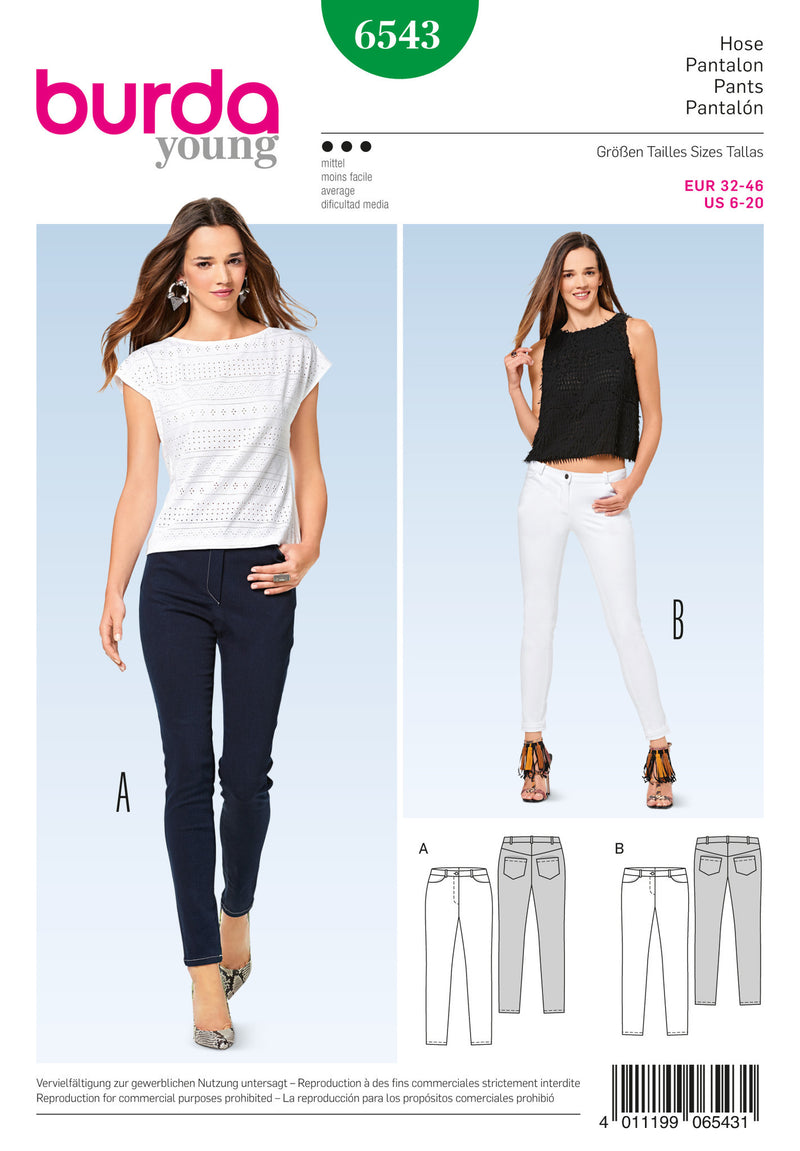 Burda Style Pattern BD6543 Misses' Pants